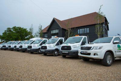 Oak View Landscapes vehicle fleet