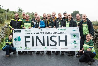 3 peaks extreme cycle challenge finish line