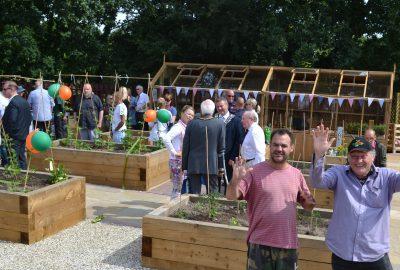 Community event planting plots Oak View Landscapes