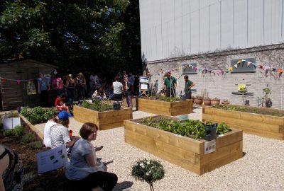 Community event planting Oak View Landscapes