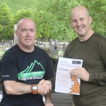 Community 3 peaks challenge holding certificate