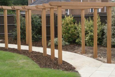 Garden entrances over path