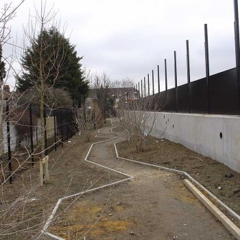 Academy School Ilford path construction