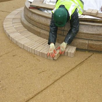 Balls Park Hertford paving being laid