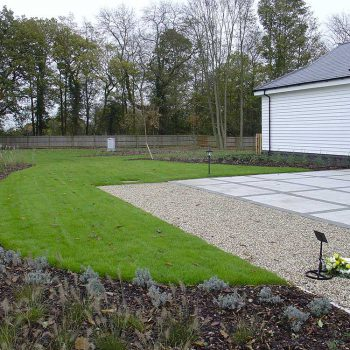Crematorium Brentwood lawn and paving
