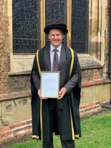 Paul Downer Honorary Fellowship from Writtle University